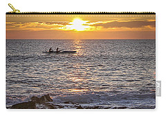 Paddlers At Sunset Portrait Carry-all Pouch