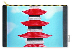 Carry-all Pouch featuring the mixed media Pagoda by Ron Davidson