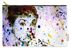 Carry-all Pouch featuring the digital art Paint Drops by Brian Reaves