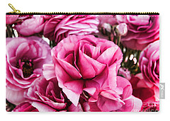 Paint Me Pink Ranunculus Flowers By Diana Sainz Carry-all Pouch