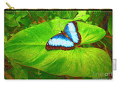 Painted Blue Morpho Carry-all Pouch