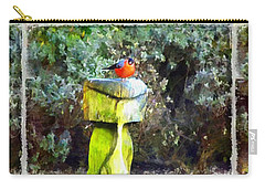 Painted Bullfinch Trio Carry-all Pouch