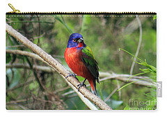 Carry-all Pouch featuring the photograph Painted Bunting Photo by Meg Rousher