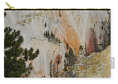 Carry-all Pouch featuring the photograph Painted Canyon At Lower Falls by Michele Myers