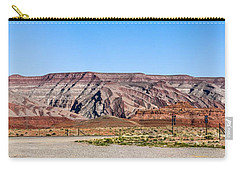 Carry-all Pouch featuring the photograph Painted Desert Mountain by Daniel Hebard
