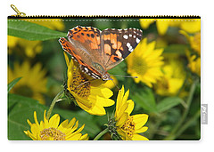 Carry-all Pouch featuring the photograph Painted Lady by James Peterson