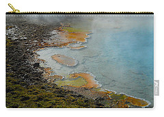 Carry-all Pouch featuring the photograph Painted Pool Of Yellowstone by Michele Myers
