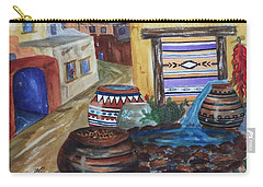 Painted Pots And Chili Peppers II  Carry-all Pouch