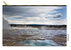 Carry-all Pouch featuring the photograph Paint Pots by Belinda Greb