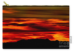 Carry-all Pouch featuring the photograph Painted Sky 34 by Mark Myhaver
