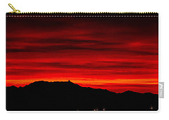 Carry-all Pouch featuring the photograph Painted Sky 36 by Mark Myhaver