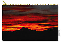 Carry-all Pouch featuring the photograph Painted Sky 45 by Mark Myhaver