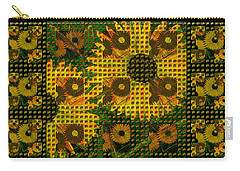 Painted Sunflower Abstract Carry-all Pouch