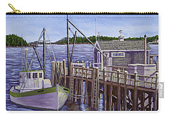Fishing Boat Docked In Boothbay Harbor Maine Carry-all Pouch by Keith Webber Jr