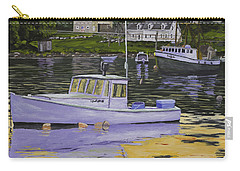 Fishing Boats In Port Clyde Maine Carry-all Pouch by Keith Webber Jr