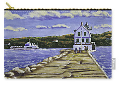 Rockland Breakwater Lighthouse In Maine Carry-all Pouch