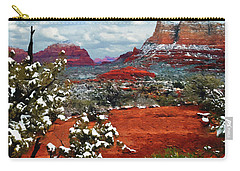 Painting Secret Mountain Wilderness Sedona Arizona Carry-all Pouch