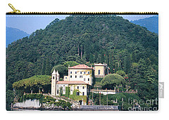 Carry-all Pouch featuring the photograph Palace At Lake Como Italy by Greta Corens