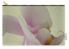 Pale Orchid On Cream Carry-all Pouch
