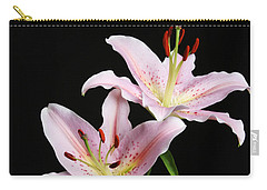 Pale Pink Asiatic Lilies Carry-all Pouch