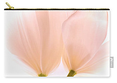 Pale Pink Tulips With Vignette Carry-all Pouch