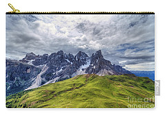 Carry-all Pouch featuring the photograph Pale San Martino - Hdr by Antonio Scarpi
