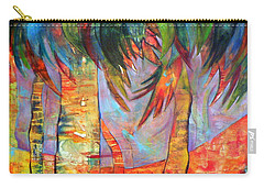 Palm Jungle Carry-all Pouch by Elizabeth Fontaine-Barr
