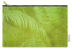 Palm Leaves Botanical Abstract Carry-all Pouch by Marianne Campolongo