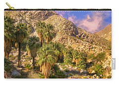 Palm Oasis In Late Afternoon Carry-all Pouch