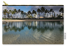 Palm Trees Crystal Clear Lagoon Water And Tropical Fish Carry-all Pouch