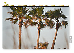 Palm Trees Through Tall Grass Carry-all Pouch by Allen Sheffield