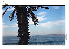 Carry-all Pouch featuring the photograph Palm Waves by Susan Garren