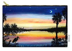 Palmetto Tree Moon And Stars Low Country Sunset IIi Carry-all Pouch