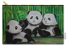 Panda Cubs Carry-all Pouch by Jean Cormier