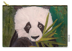 Carry-all Pouch featuring the painting Panda by Jenny Lee