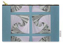 Carry-all Pouch featuring the mixed media Panes by Ron Davidson