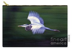 Carry-all Pouch featuring the photograph Panned Heron  #9652 by J L Woody Wooden