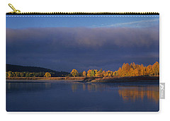 Carry-all Pouch featuring the photograph Panorama Clearing Storm Oxbow Bend Grand Tetons National Park Wyoming by Dave Welling