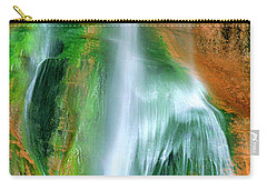 Carry-all Pouch featuring the photograph Panorama Lower Calf Creek Falls Escalante Nm Utah by Dave Welling