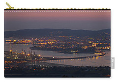 Carry-all Pouch featuring the photograph Panorama Of Ferrol From Mount Marraxon Galicia Spain by Pablo Avanzini