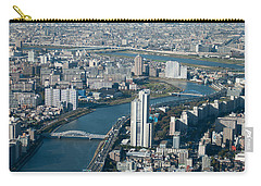 Panorama Of Tokyo Carry-all Pouch by Jill Mitchell