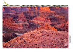 Carry-all Pouch featuring the photograph Panorama Sunrise At Dead Horse Point Utah by Dave Welling