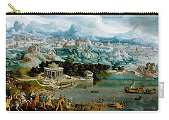 Panorama With The Abduction Of Helen Amidst The Wonders Of The Ancient World Carry-all Pouch