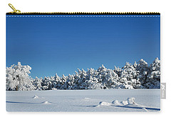 Panorama With Trees Covered With Snow In A Sunny Winter Day Carry-all Pouch