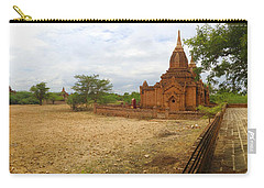 Carry-all Pouch featuring the photograph Panoramic View Next To Dhammayazika Pagoda Built In 1196 By King Narapatisithu by Ralph A  Ledergerber-Photography