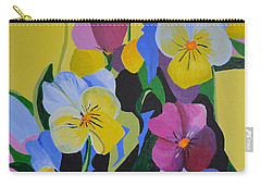 Pansies Carry-all Pouch by Donna Blossom