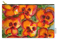 Pansies Love Us Carry-all Pouch