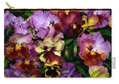 Pansy Mania Carry-all Pouch by Diane Schuster