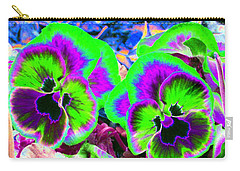 Pansy Power 60 Carry-all Pouch by Pamela Critchlow
