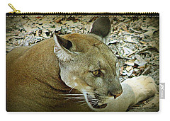Carry-all Pouch featuring the photograph Panther by Debra Forand